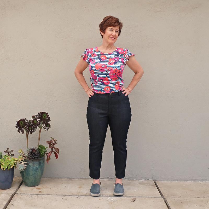 Sparkle jeans waist view