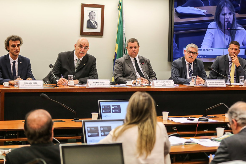 Reunião da Comissão do Esporte na Câmara dos Deputados
