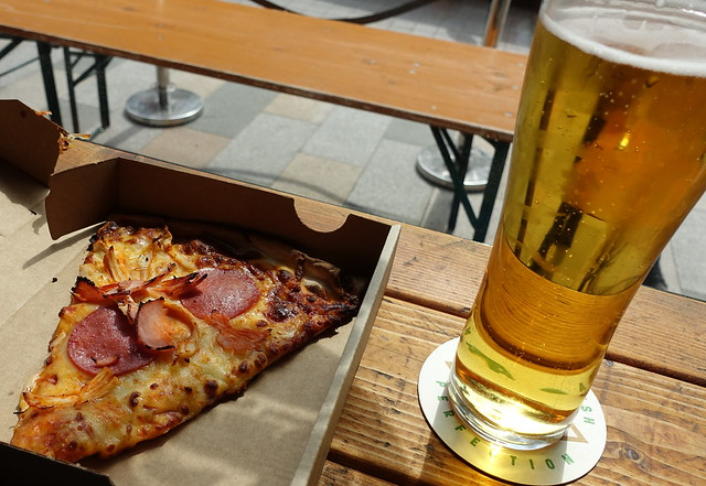 Slice of Pizza and a Pint