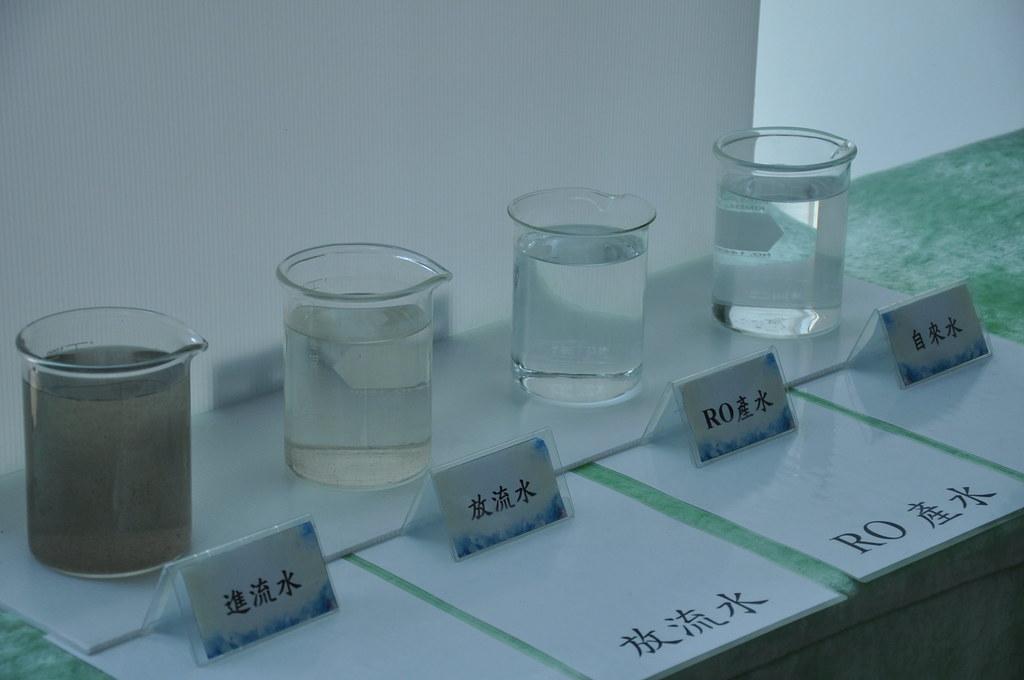 經處理過後的再生水質較自來水更乾淨。孫文臨攝