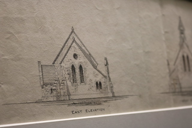 Examples from 'A Visual Window to an Ecclesiastical World' – an exhibition of the Church of Ireland's historical architectural drawings.