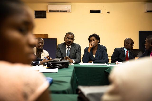 Meeting hebdomadaire des avocats des BALs de Port-au-Prince