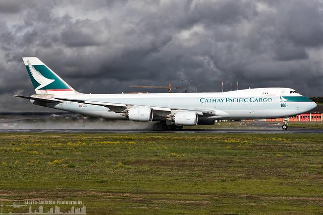 B-LJC Cathay Pacific Boeing 747-867F '100th Boeing aicraft' sticker (FRA - EDDF - Frankfurt)