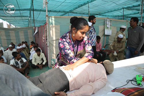 Physiotherapy in the Samagam venue