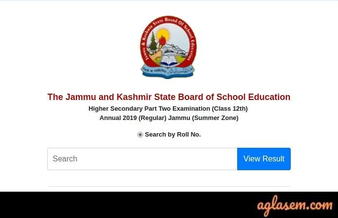 JKBOSE 12th Result 2019 Jammu Annual Regular Summer Zone