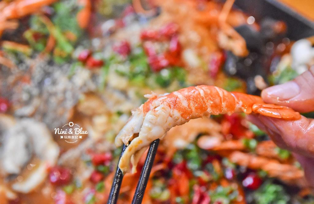 漁知香木桶魚 台中逢甲美食 麻辣烤魚 小龍蝦 水煮牛 四川烤魚36