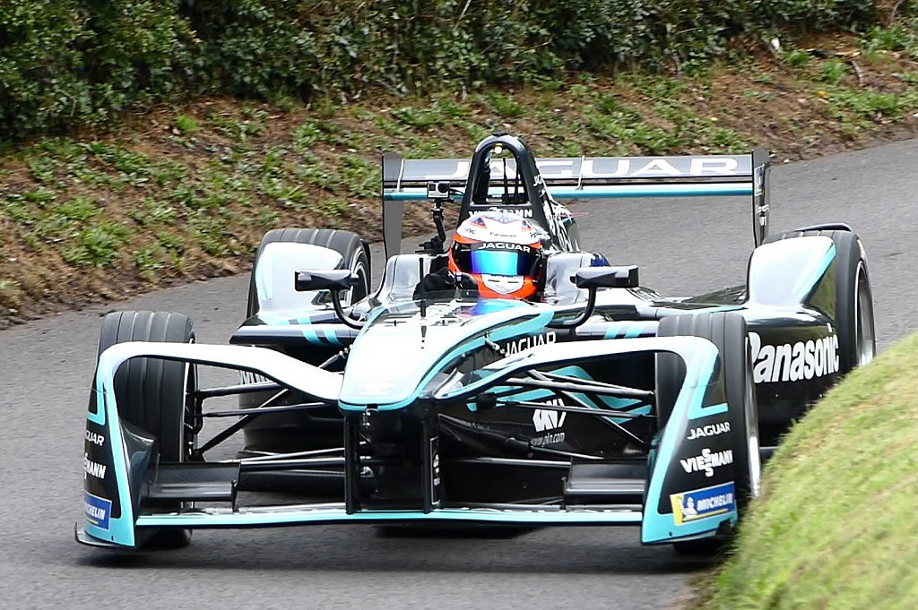 Mitch Evans' Jaguar Formula E at Shelsley (I Beard)
