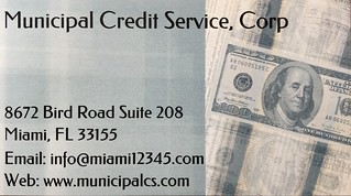 Municipal Credit Service Corp Business Card