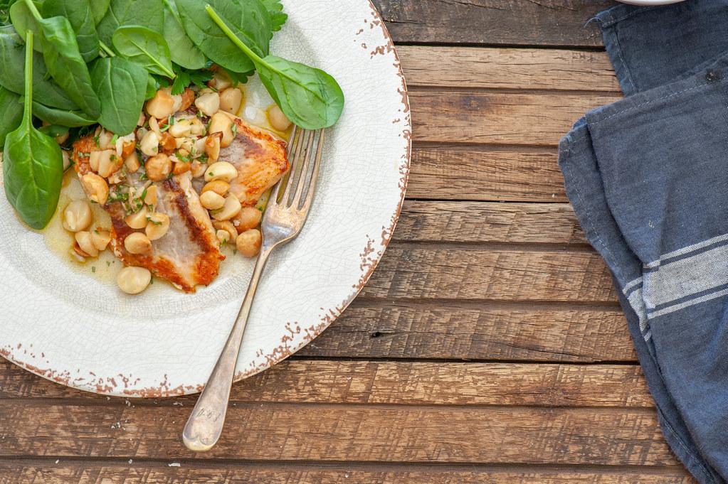 Rosemary Macadamia Salsa Salmon