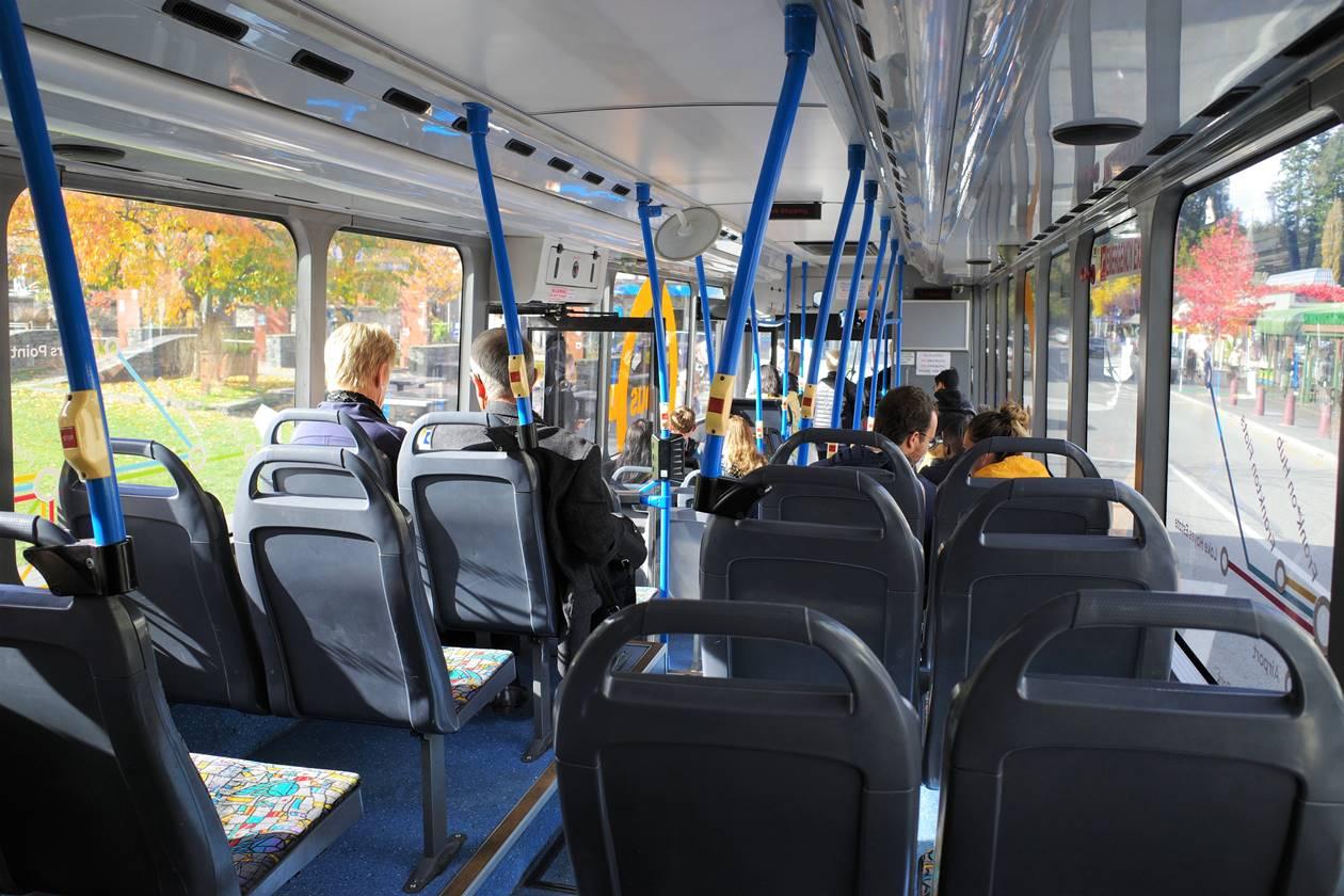 クイーンズタウン バス車内