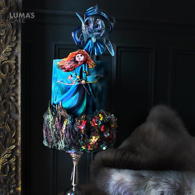 Brave Hand Painted Cake by Luma's Cake