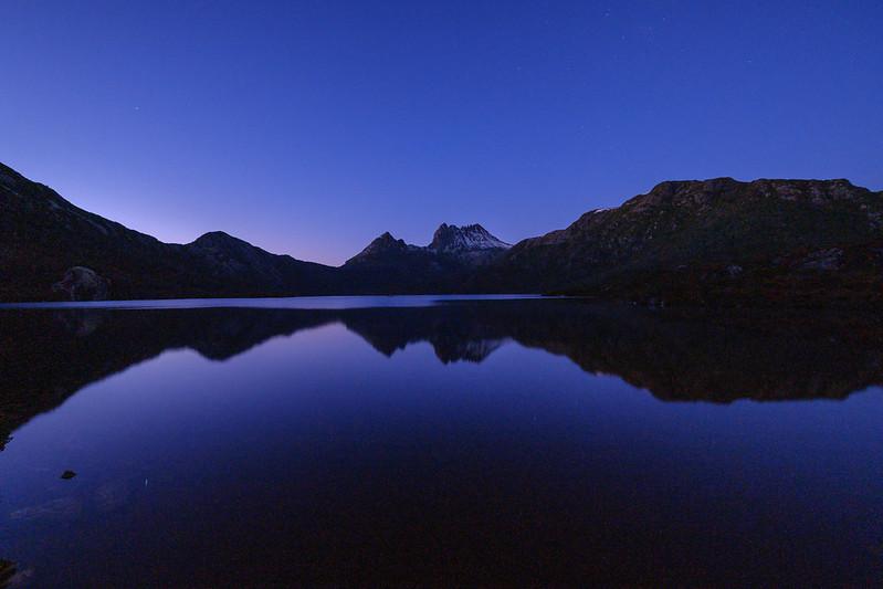 Cradle Mountain / Dove Lake before dawn ( TASMANIA, AUSTRALIA )