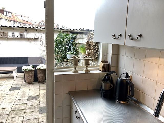 Rieten potten terras Franse vaasjes vensterbank