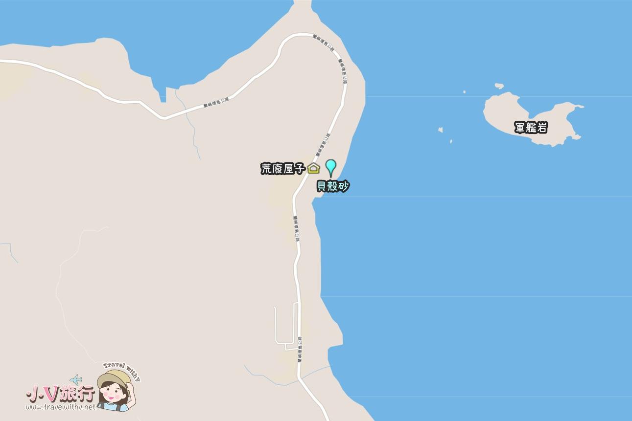 蘭嶼東清部落私房景點 貝殼砂地圖