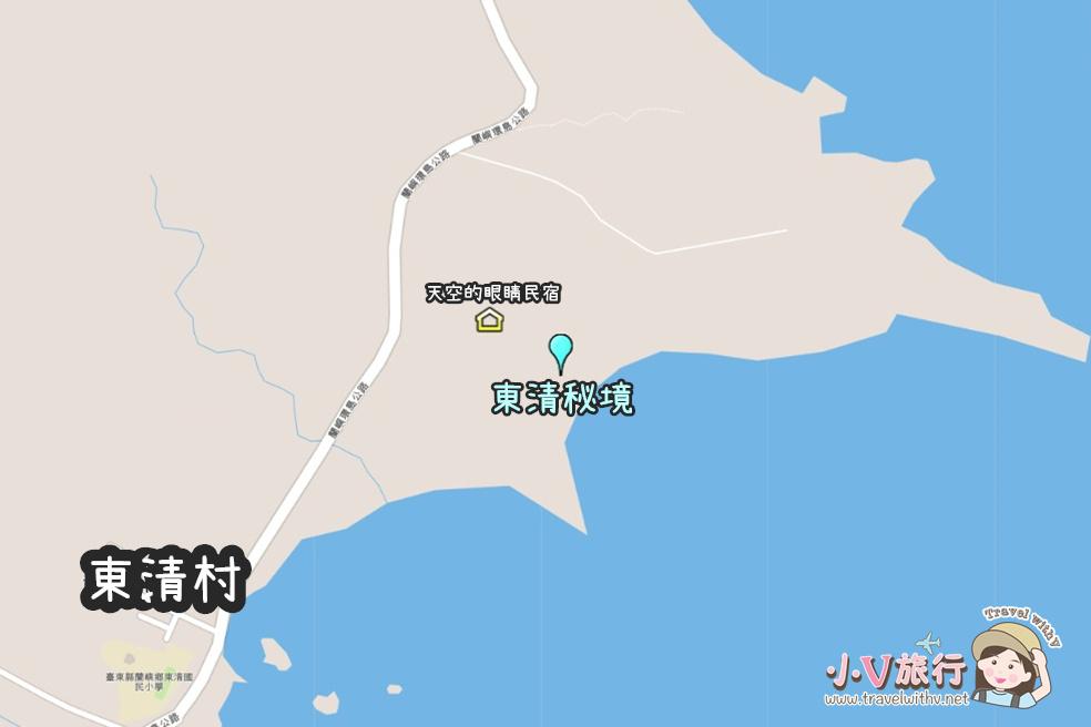 蘭嶼東清部落私房景點 東清秘境地圖
