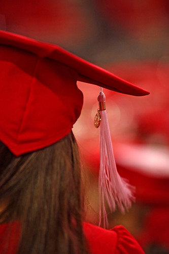 Mortar board and tassel.