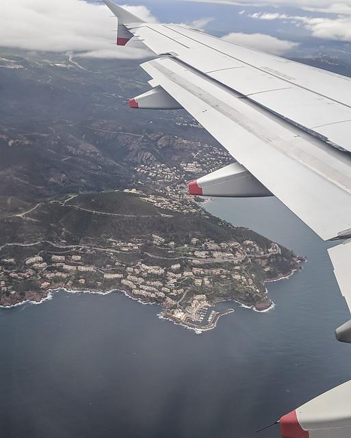 Flying to Nice