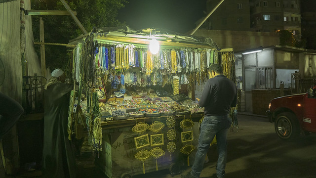 The Muslim rosaries vendor in Cairo