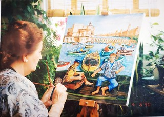 Luisa Maiellaro dipinge