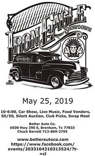 05-25-2019 Iron Eagle Showdown Car Show Flyer   by Camaro Kid Car Show Listings
