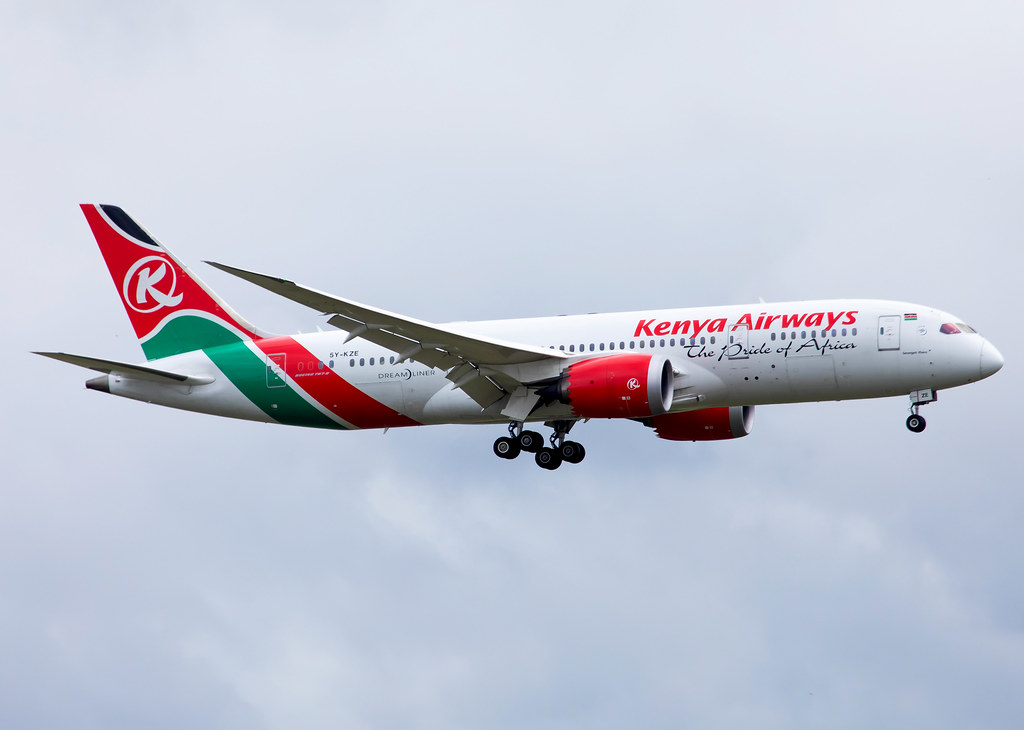 Rare shot from Nairobi NBO. Short final for RWY06 inbound from New York JFK. Delivered 09/2014.