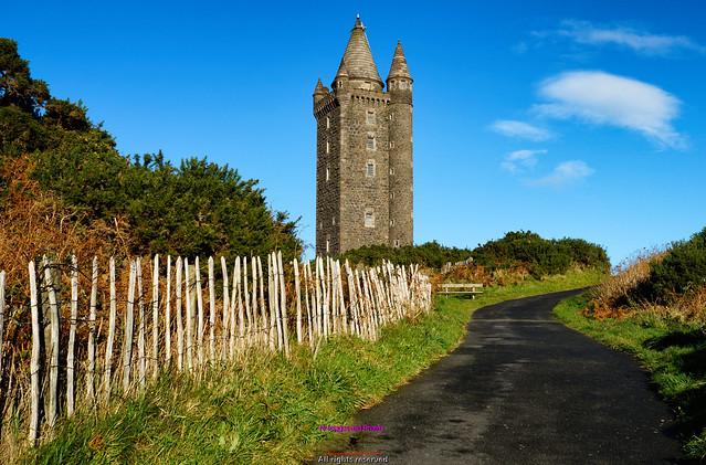 Scrabo tower overlooking Newtownards