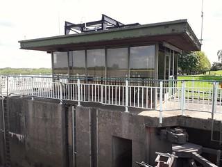 Barnby Barrage and Lock River Derwent Yorkshire