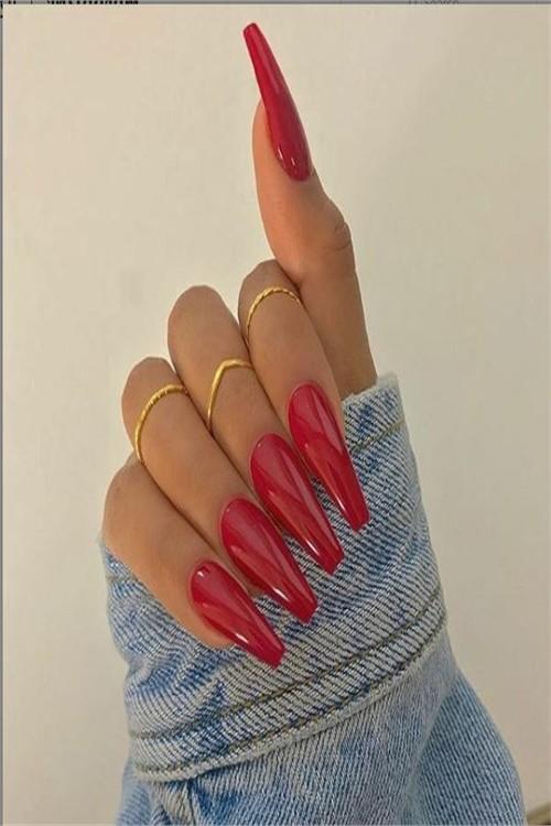 33 Amazing Red Acrylic Nail Art Designs 2019 #nail_art_designs #trendy_nails #acrylic_nails #red_manicure