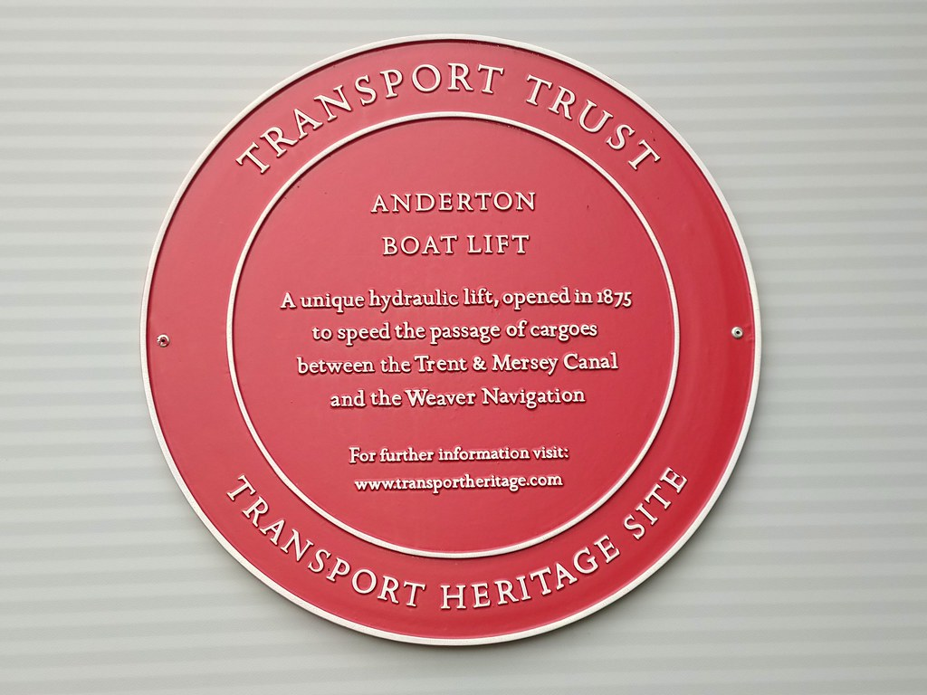 Transport Heritage Site Plaque, Anderton Boat Lift