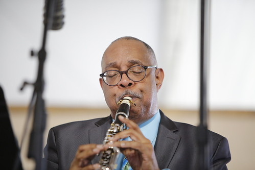 Dr. Michael White at Jazz Fest Day 8 - 5.5.19. Photo by Michele Goldfarb.