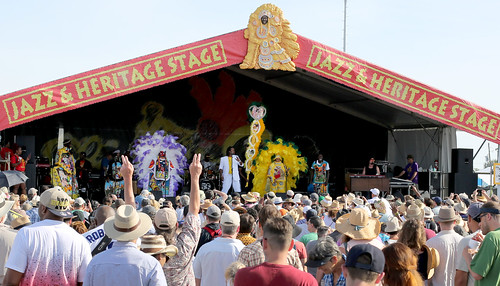 Big Chief Bo Dollis, Jr. & the Wild Magnolias at Jazz Fest day 8 - 5.5.19. Photo by Bill Sasser.