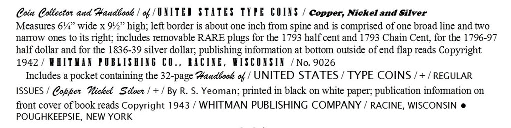 Whitman Book Type Coin Folder