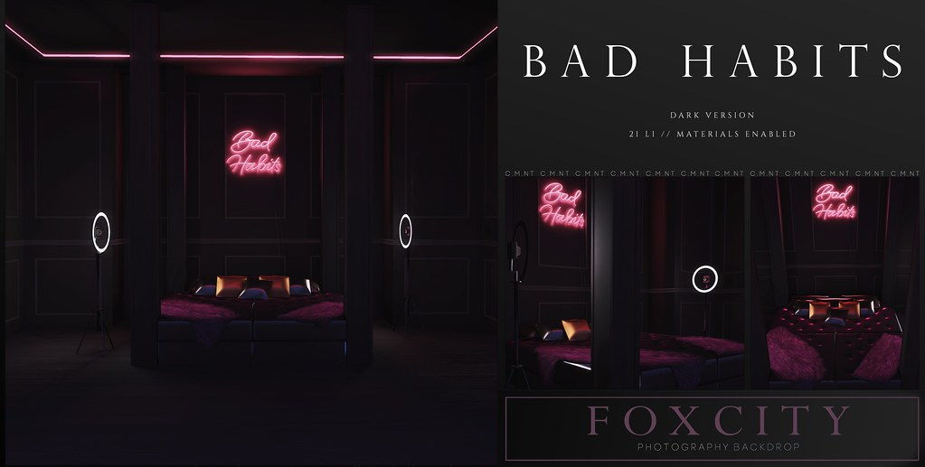 FOXCITY. Photo Booth – Bad Habits (Dark)