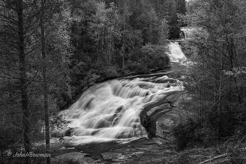 northcarolina transylvaniacounty ncmountains forests stateforests ncforests dupontstateforest waterfalls ncwaterfalls triplefalls riversandstreams littleriver bw april2019 april 2019 canon24704l