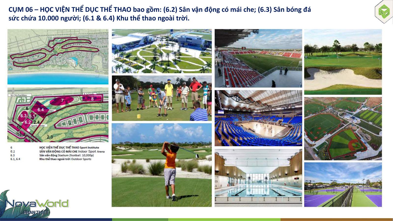 Cụm tiện ích Học viện thể thao dự án NovaWorld Phan Thiết