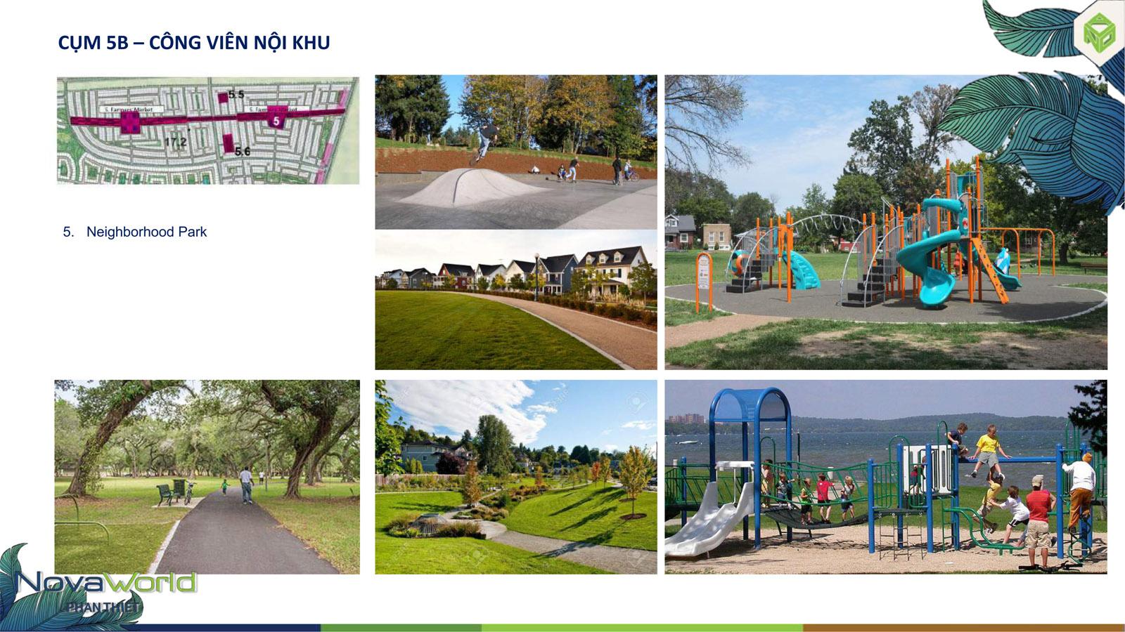 Cụm tiện ích công viên nội khu dự án NovaWorld Phan Thiết