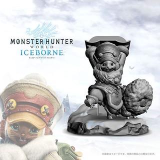 CAPCOM《魔物獵人:世界 ICEBORNE》艾露貓造型 手把 / 手機 放置架(オトモアイルースタンド)【e-CAPCOM限定】