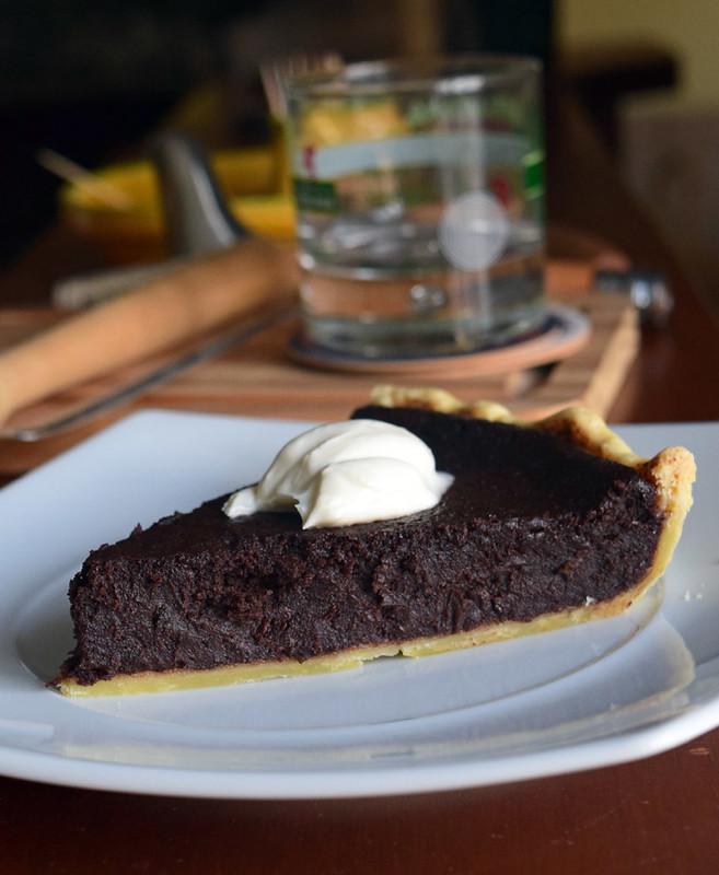 Baked chococate tart