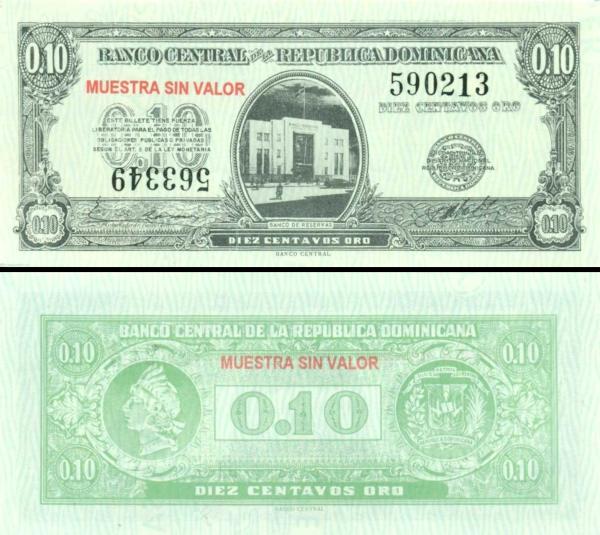 10 Centavos Dominikánska republika 1961 P86s