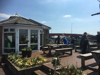 Arun View patio and Littlehampton Bridge