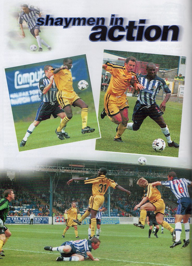 21-08-1999 Halifax Town 0-1 Plymouth Argyle 4 Mark Jules