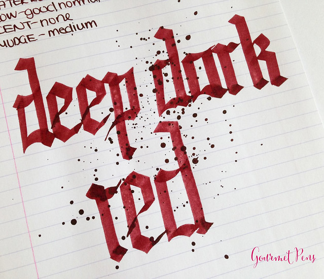 Cult Pens Diamine Deep Dark Red Ink 7