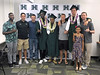 Men's basketball student-athletes Sheriff Drammeh, Brocke Stepteau and Jack Purchase were among the spring graduates at the University of Hawaii at Manoa commencement ceremony on May 11, 2019.