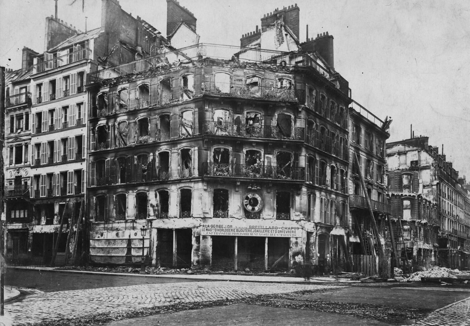 06. 1870. Здания, обстрелянные прусскими войсками