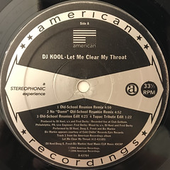 DJ KOOL:LET ME CLEAR MY THROAT(LABEL SIDE-A)