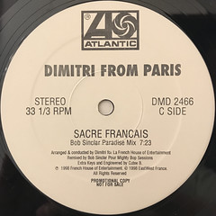 DIMITRI FROM PARIS:SACRE FRANCAIS(LABEL SIDE-C)