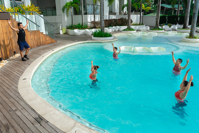 Group activity (Aqua Aerobics) at the Pool