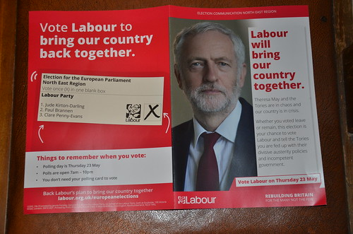 Labour European election leaflet North East May 19 (1)
