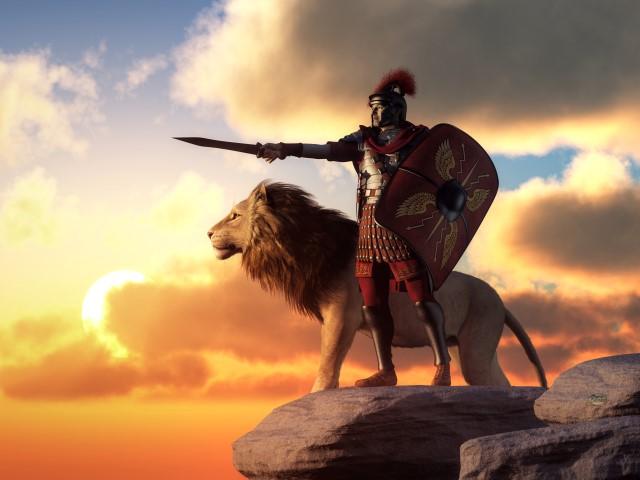 Centurion and Lion