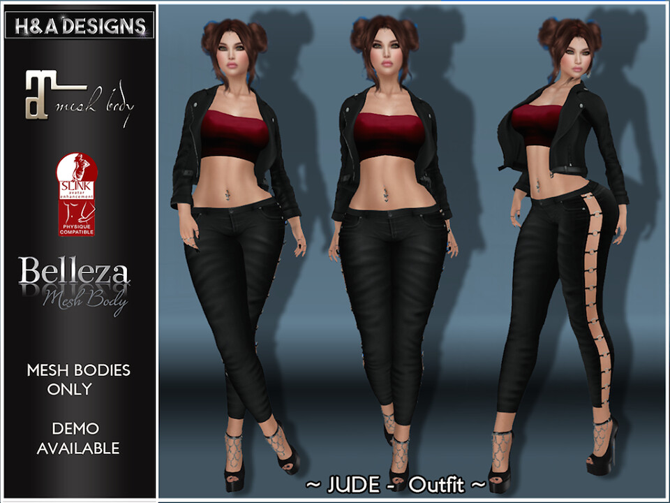 [H&A Designs]-Jude Outfit Black